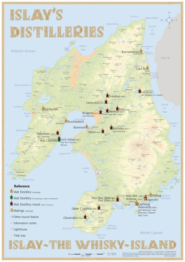 Scotland's Isle of Islay Distilleries [Infographic]