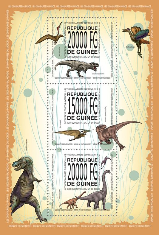 GU 13511 aDinosaurs, (Quetzalcoatilus, Tyrannosaurus rex, Pterosauria, Daspletosaurus torosus, Brachiosaurus).