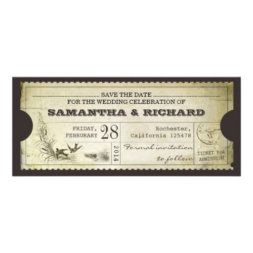 145 best Vintage Tickets images on Pinterest Craft supplies - invitation ticket