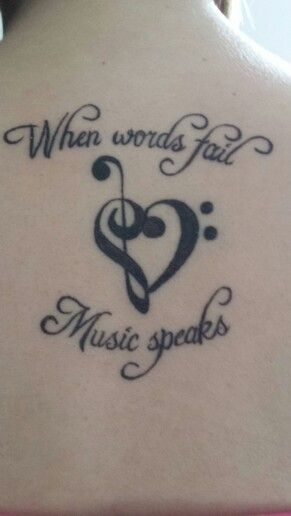 """Base and treble cleft heart. """"When words fail music speaks"""" Music lovers :)"""