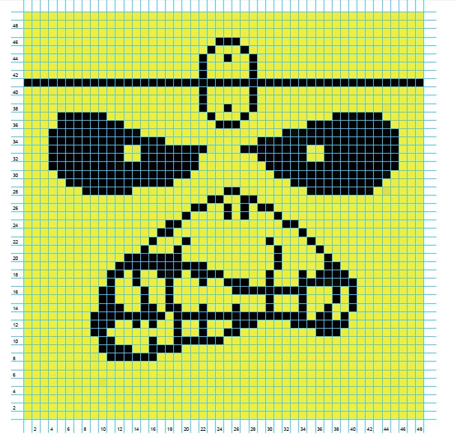 Iron Maiden for crossstitch or crochet