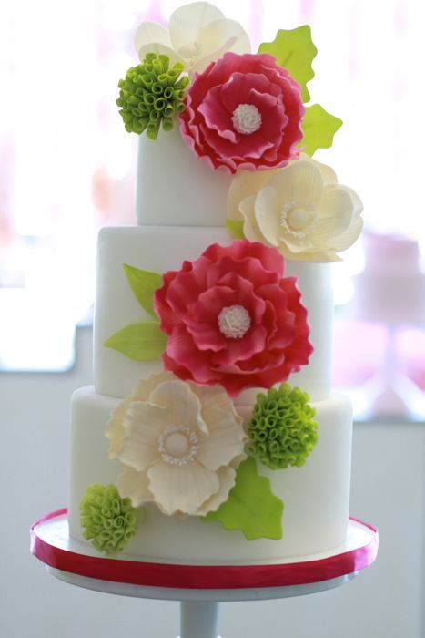 Add a bright pop of color on your cake.  Make it memorable!