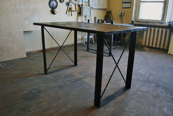 Handmade #loft #industrial #dinning table. Made by werkhausspb in Saint-Petersburg, Russia.
