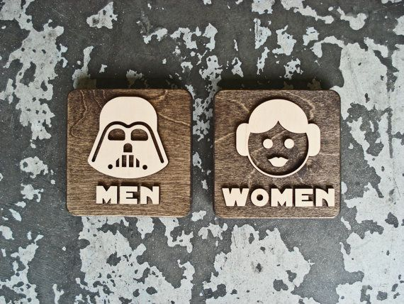 Hey, I found this really awesome Etsy listing at https://www.etsy.com/listing/242018820/new-star-wars-restroom-signs-techie