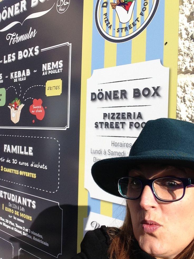 Menu de doner Box 30 à Nîmes rue Pompidou réalisé par Jouer avec le Patrimoine