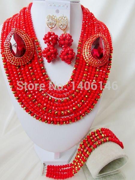2014 прямые продажи бесплатная доставка женщины ювелирные комплект новое поступление непрозрачный нигерии свадьба африканские бусины комплект ювелирных изделий Ab2206
