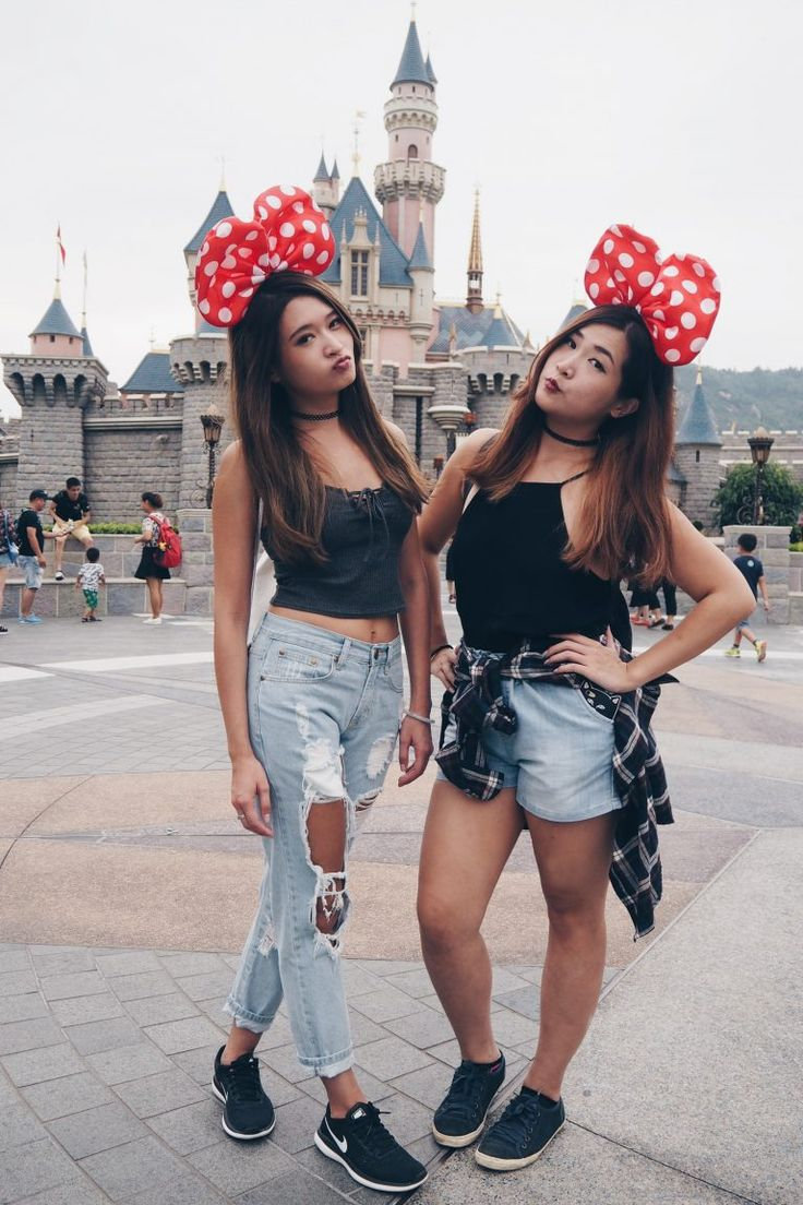 A day at Disneyland Hong Kong. Check out my post for more photos!  Disneyland outfit ideas.