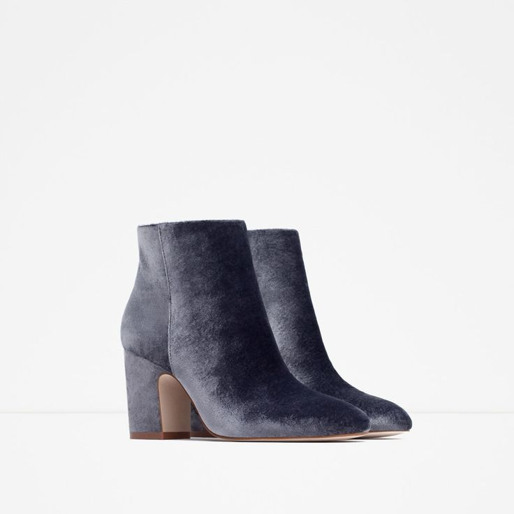 HIGH HEEL VELVET ANKLE BOOTS-Shoes and handbags-Woman-NEW IN | ZARA Germany