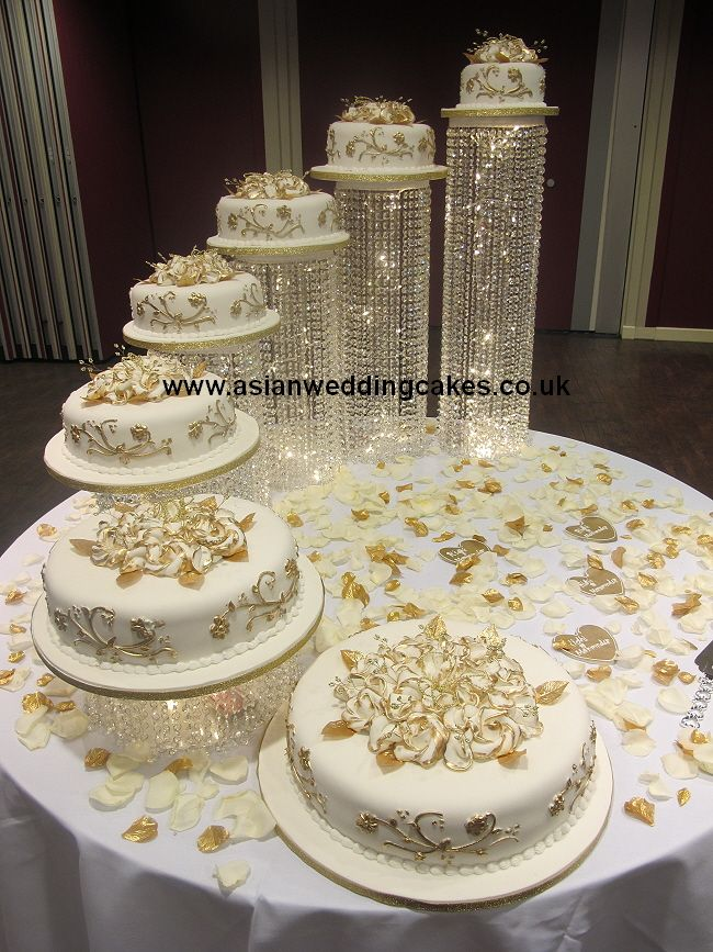 4 Tiers Love The White Gold Cool Wedding Cakestier