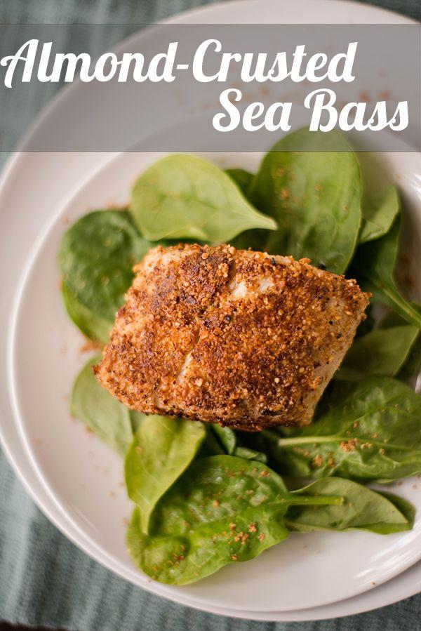 Almond-Crusted Sea Bass