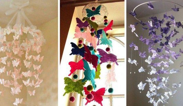 Návod na závěsnou dekoraci s motýlky