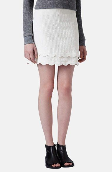 Topshop Scallop Hem A-Line Skirt available at #Nordstrom