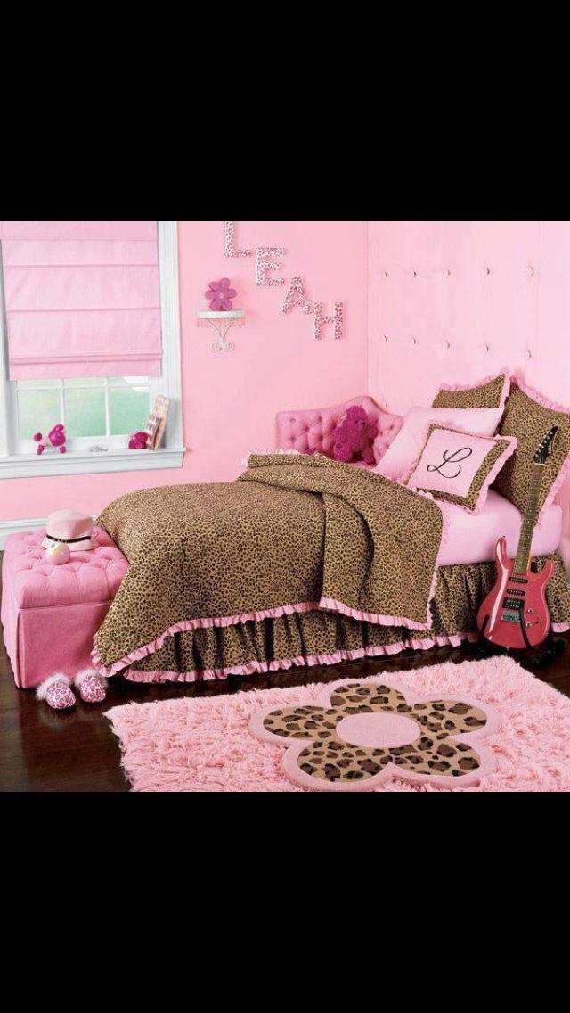 is leopard coming back girls bedroom ideas