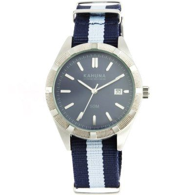 Kahuna - Men\'s Blue Fabric Strap Blue Dial Watch - KUS-0091G - RRP: £29.95 - Online Price: £25.00