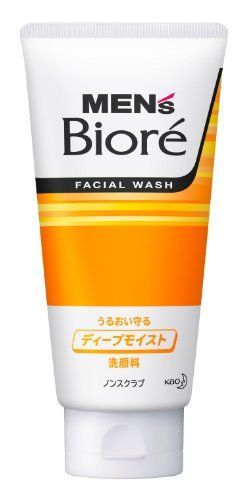 Mens Biore Facial Wash Deep Moist NonScrub 130g * Read more reviews of the product by visiting the link on the image.