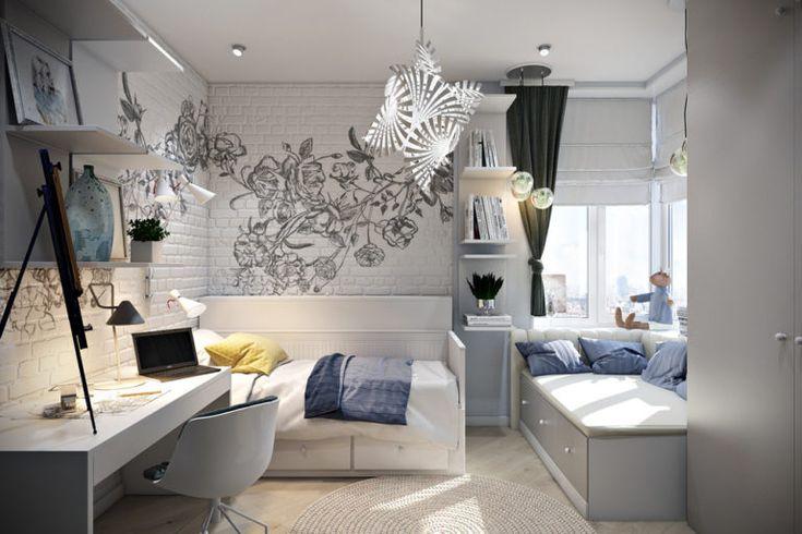 21 дизайн комнаты подростка 12 кв. м: фото + идеи   27 ...
