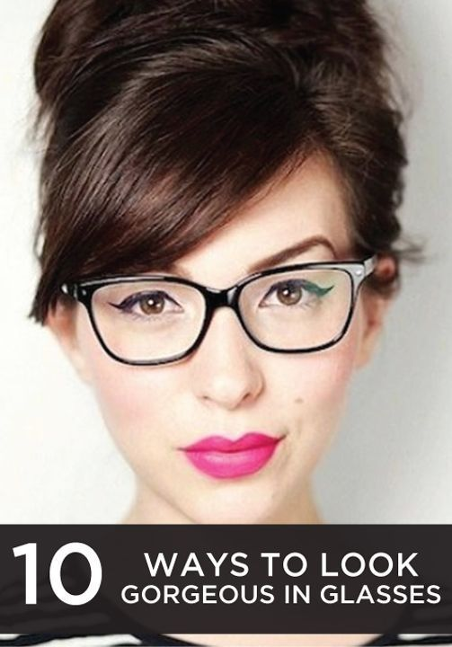 These makeup tips are tricks are perfect for girls who wear glasses