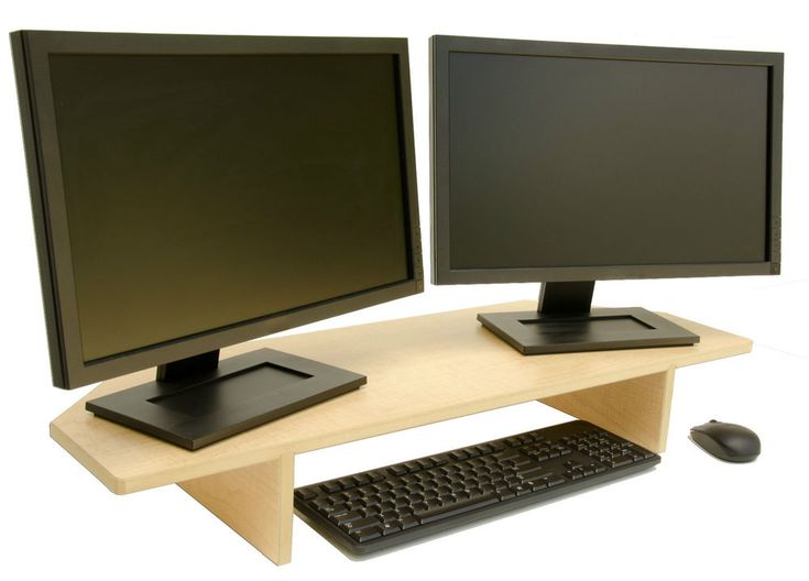 This Usa Made Computer Monitor Stand Is Perfect For Dual And Single Uses The Back Corners Are Cut At 45 Fit Snugly Into