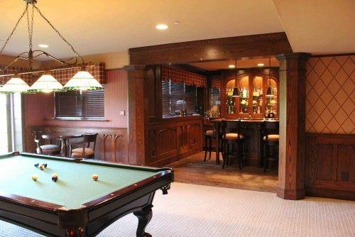 cool recessed bar basement makover pinterest