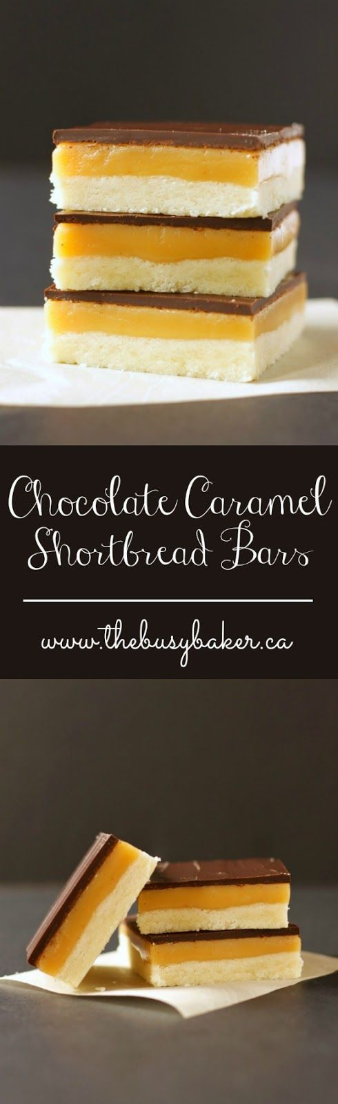 These Chocolate Caramel Shortbread Bars from thebusybaker.ca are the perfect St. Patrick's Day treat!