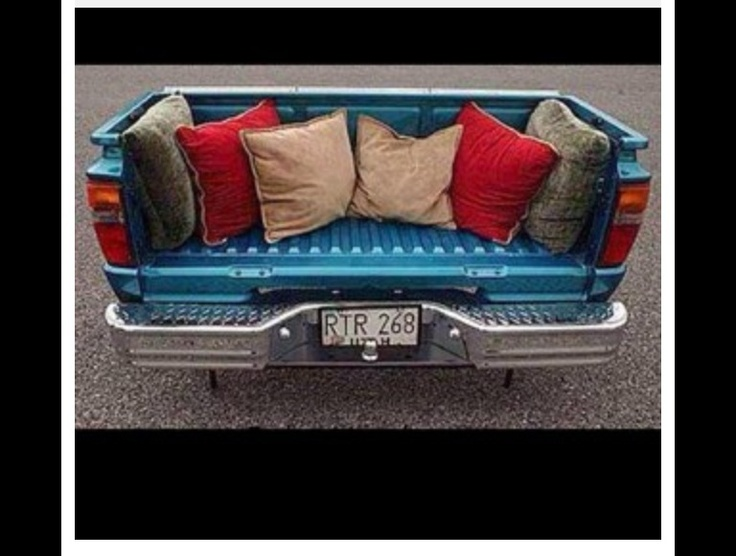 Truck Bed Couch Nice Tailgate Bench Auto Motorcycle Art Pinterest Truck Bed Trucks
