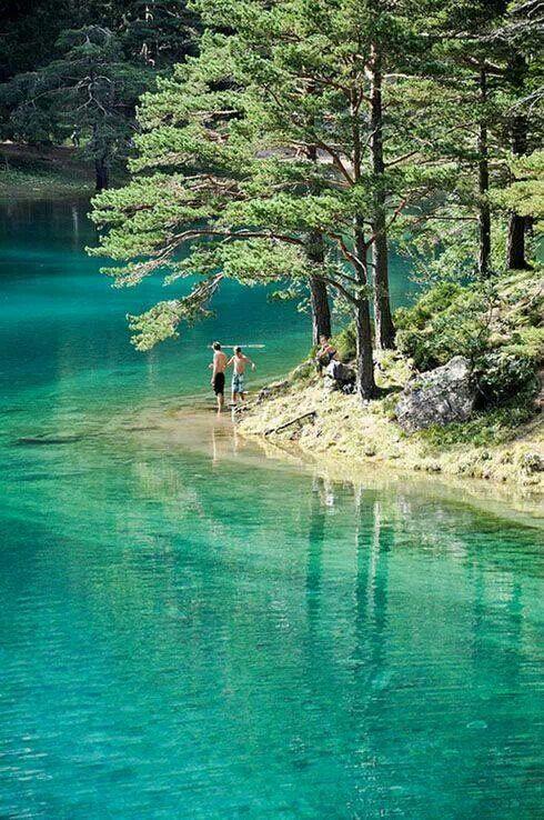 Green lake in upper Styria, Austria