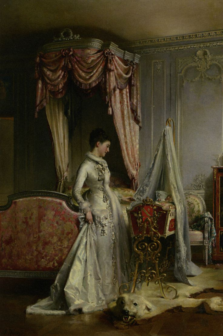 """""""The Heir"""", c. 1880s, by Adolphe Weisz (French, 1838-1900)"""