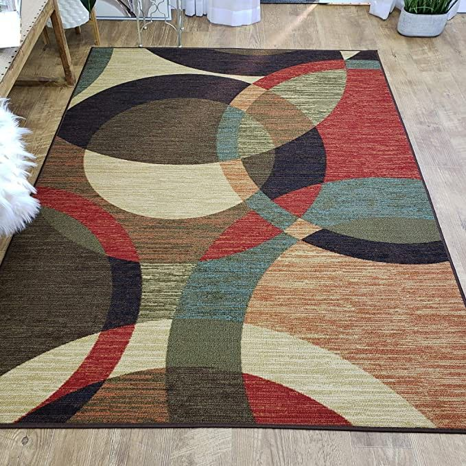 Area Rug 3x5 Colored Circles Kitchen Rugs Mats Rubber Backed Non Skid Rug Living Room Bathroom Nur In 2020 Kitchen Rugs And Mats Rugs In Living Room 5x7 Area Rug