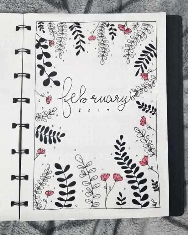 47 Bullet Journal Wöchentliche Spreads & Layouts – Februar … – #Bullet #Feb #Journal #Layout #Layouts