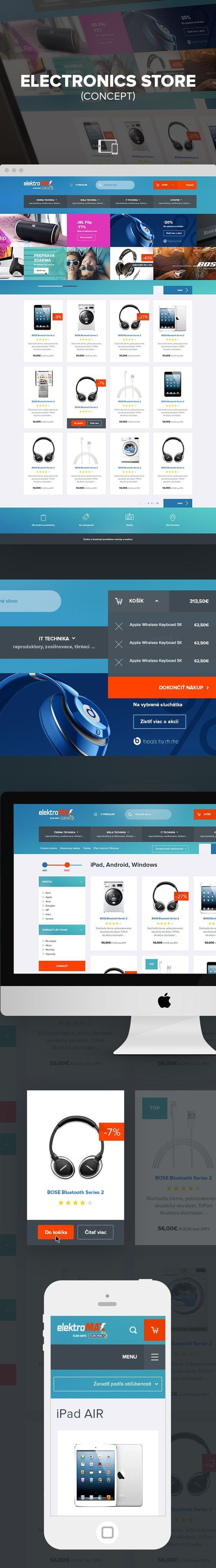 Concept of e commerce  electronic store: