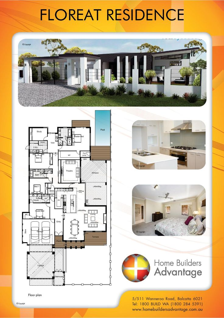 Home Builders Advantage- Perth's Biggest Building Broker- Single Storey Home Designs- www.homebuildersadvantage.com.au