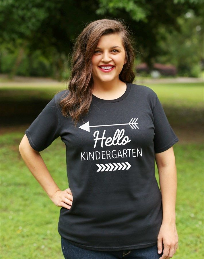 The perfect teacher's graphic tee for the first day of school! Available in sizes up to 4X and all shirts are true to size and only $14.99 each!