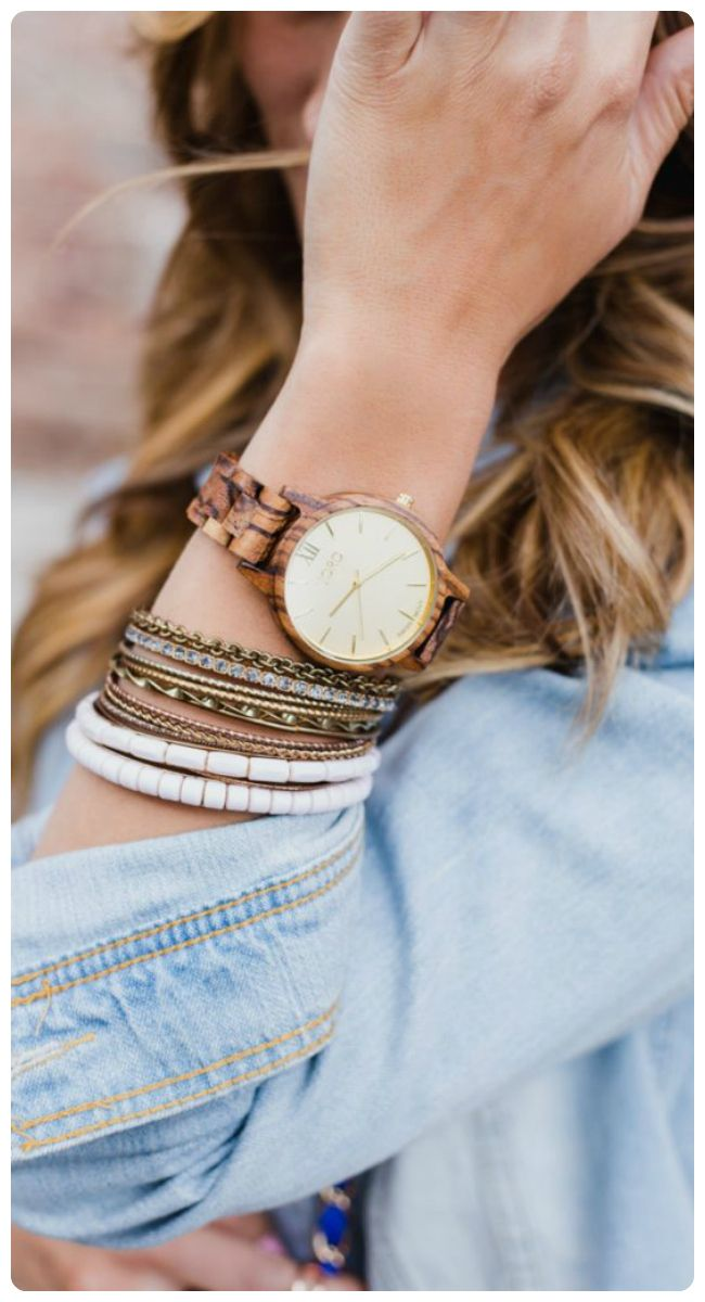 Effortless style | photo courtesy of the lovely @designlvsdetail | Find your JORD at woodwatches.com, shipping worldwide with free shipping in the U.S.!