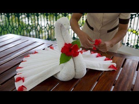 Handtücher falten wie beliebte Tiere und Figuren - 18 Ideen
