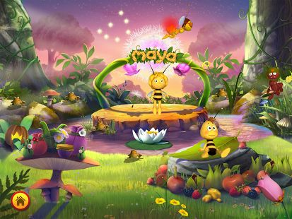 5-star #app: Maya the Bee Flower Party - help Maya organize a fantastic party and interact with the cute characters + 6 educational mini-games for preschoolers #topkidsapps