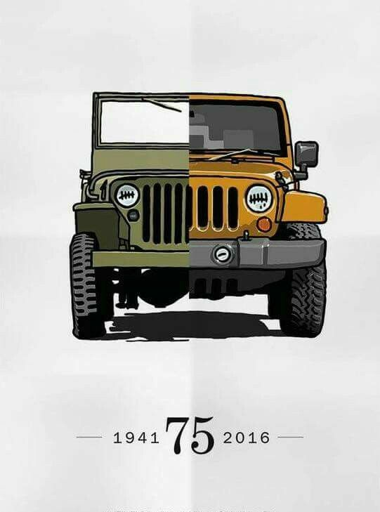 Restore A Jeep Of 40 S And Buy A New One Of Modern Times Money Can T Buy Happiness But It Can Buy Jeeps Same Thing Right Retro Cars Jeep Jeep Jamboree