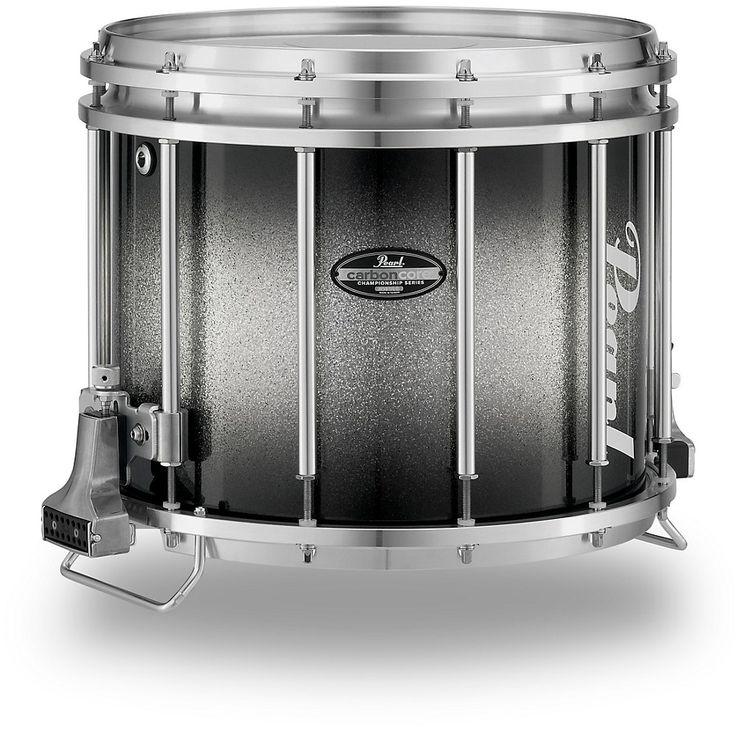 Pearl Championship Maple Varsity FFX Marching Snare Drum Burst Finish 14 x 12 in. Black Silver Burst #983
