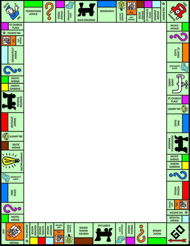 "Eureka Poster: 7"" x 22"", Monopoly Welcome"