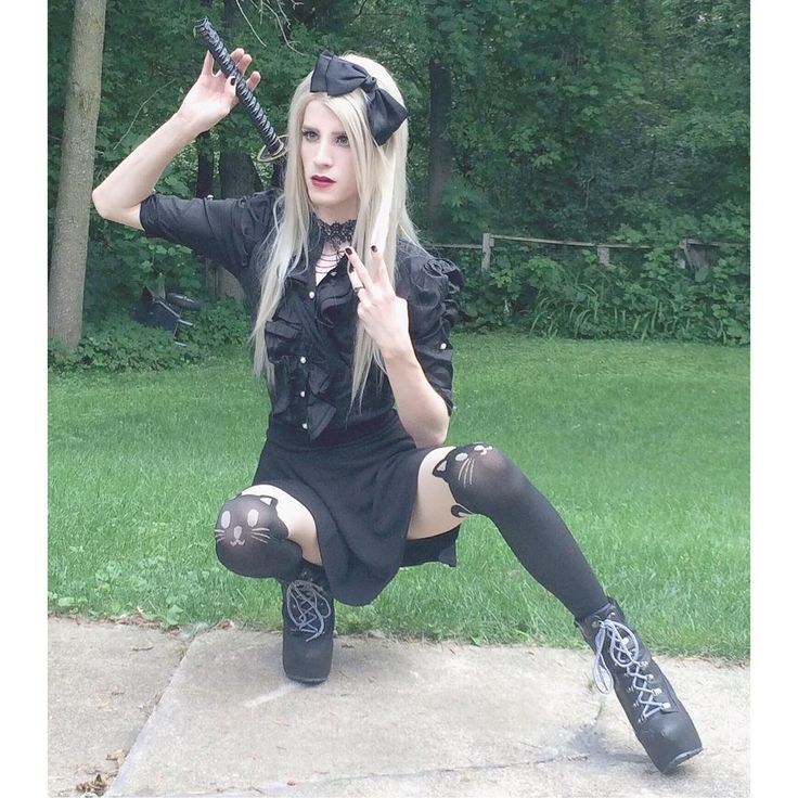 "226 Likes, 23 Comments - Dakota Kühn (@dakota_kuhn) on Instagram: "" #mystyle #katana #yaoi #crossdresser #cosplayeveryday #cattights #samuraisword #samuraiprincess…"""