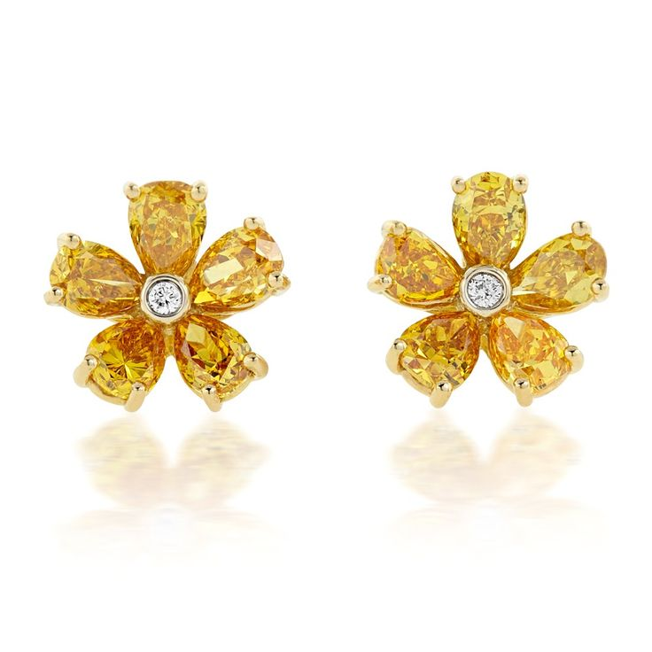 cttw womens black earrings white colored cluster earrin stud diamond grande gold products flower