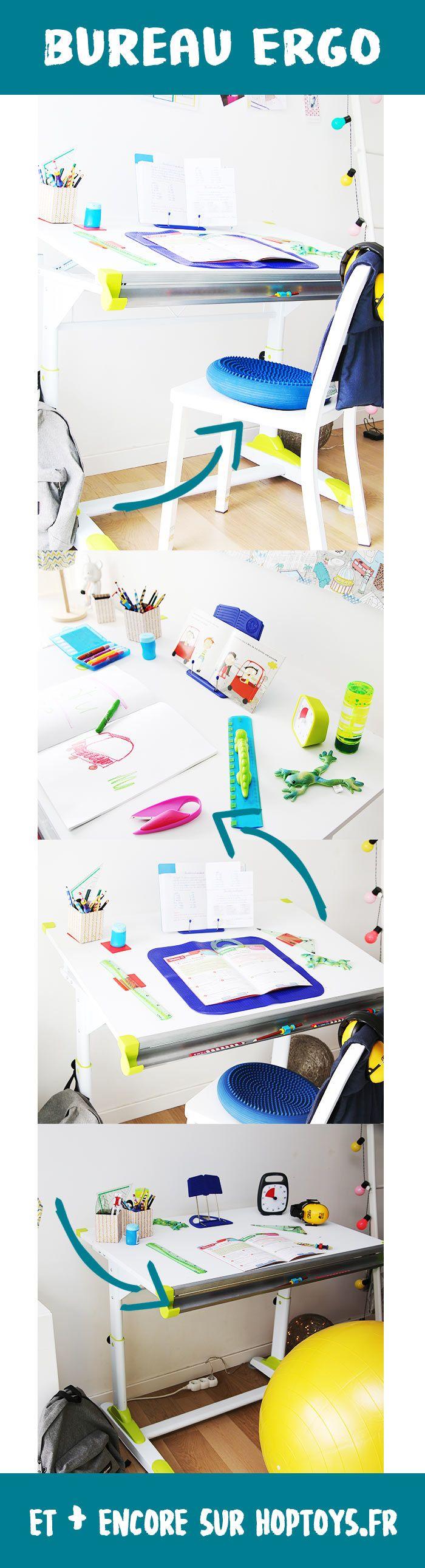Le bureau ergonomique : étudier confortablement ! Parce que chaque enfant à besoin d'un bureau qui lui soit adapté personnellement, un bureau ergonomique lui permettra de lire, d'écrire et d'étudier en tout confort ! Adapté à sa taille, à ses besoins et à ses compétences, le bureau ergonomique et ses outils adaptés aideront l'enfant dans sa concentration et dans son autonomie. Stylos, crayons, pupitre et autres fournitures