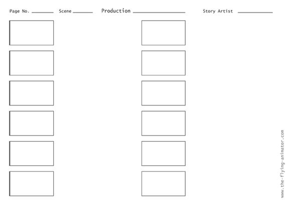 storyboard template 3x4 04 Art Storyboards, Visual Development - media storyboard template