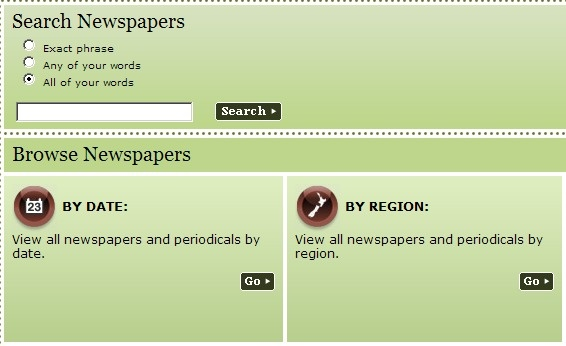 Papers past.Searchable NZ newspaper archives online. http://paperspast.natlib.govt.nz/cgi-bin/paperspast