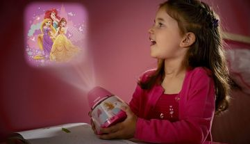 Het nachtlampje en de beeldprojector Philips Disney Princess zullen...