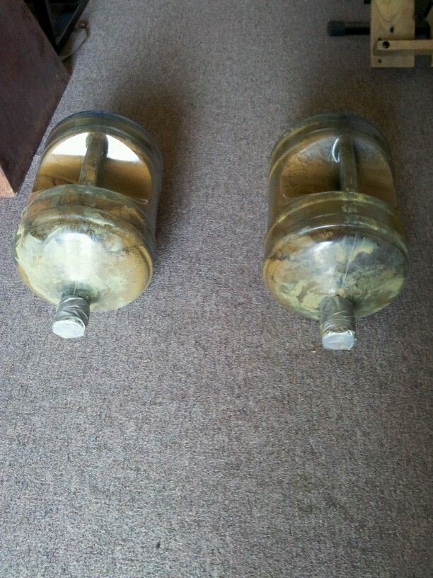 Home made Farmers Carry - we have PLENTY of empty water jugs