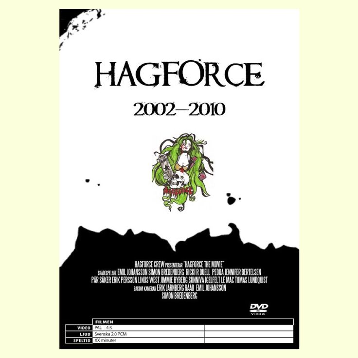 Hagforce the Movie back DVD-cover. #hagforce #hagforcethemovie