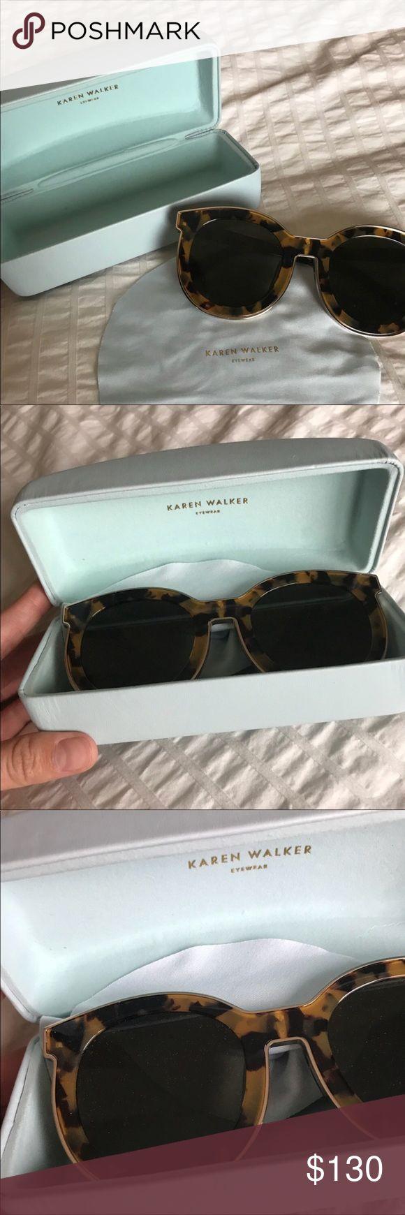 Karen Walker Super Spaceship Sunglasses Like new Karen Walker sunglasses. Worn once. Very chic sunglasses. Tortoise color. Karen Walker Accessories Sunglasses