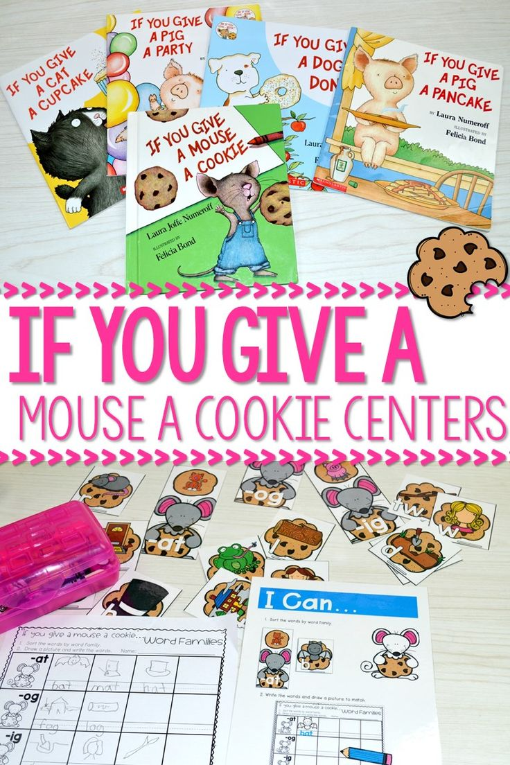 If you give a mouse a cookie activities and centers for kindergarten. These math and literacy activities are so much fun for your Laura Numeroff author studies!