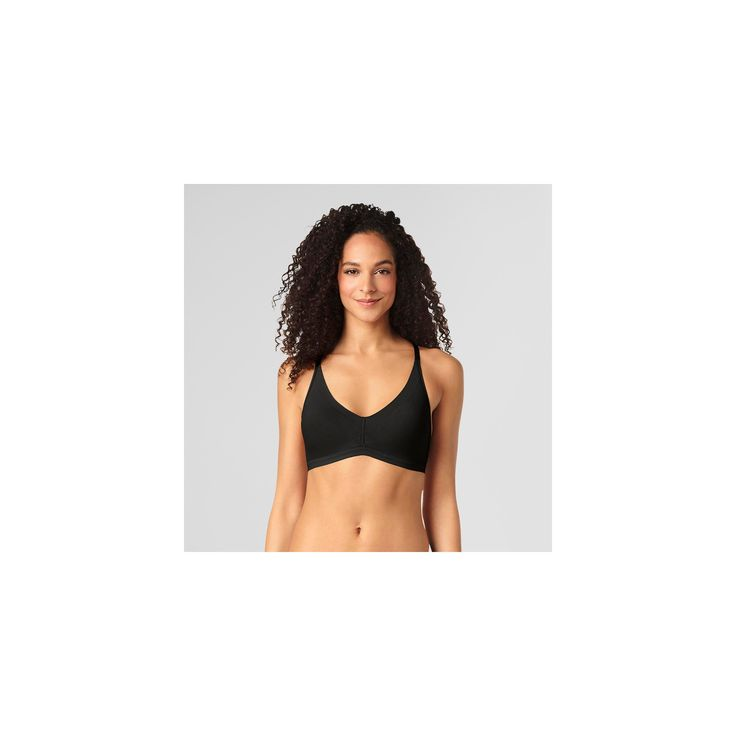 c09895cd46 Simply Perfect by Warner s Women s Invisible Edge Lift Seamless Wireless  Bra - Black Xxl