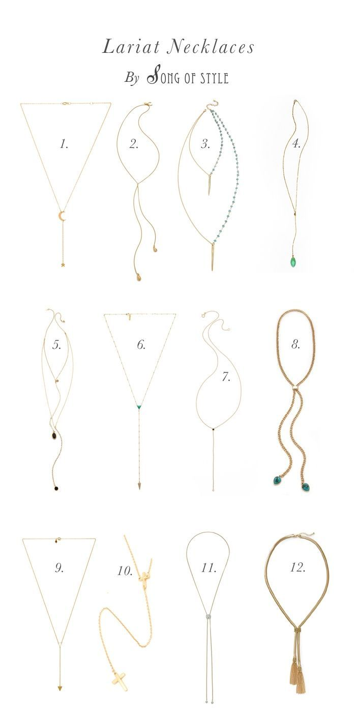 The Layered Necklace Look : Lariat Necklace | Song of Style